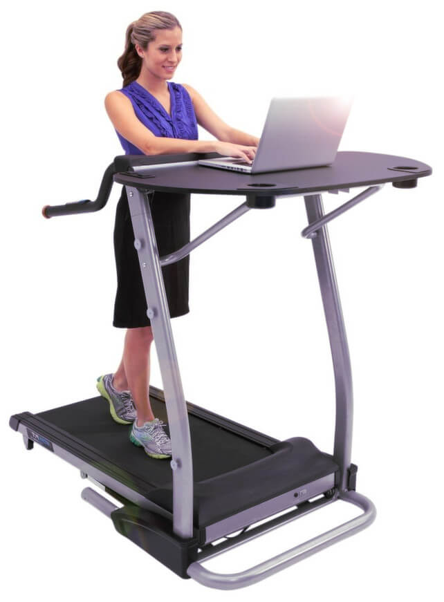 Exerpeutic workfit 2000 treadmill desk workstation