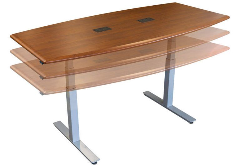 synapse adjustable height conference table