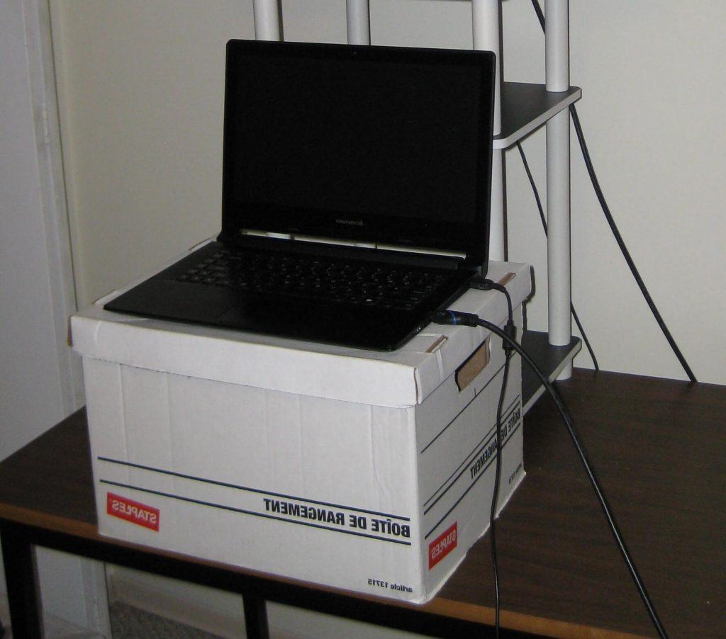 Cardboard DIY desk converter