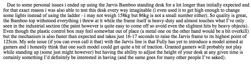 Jarvis desk review 2