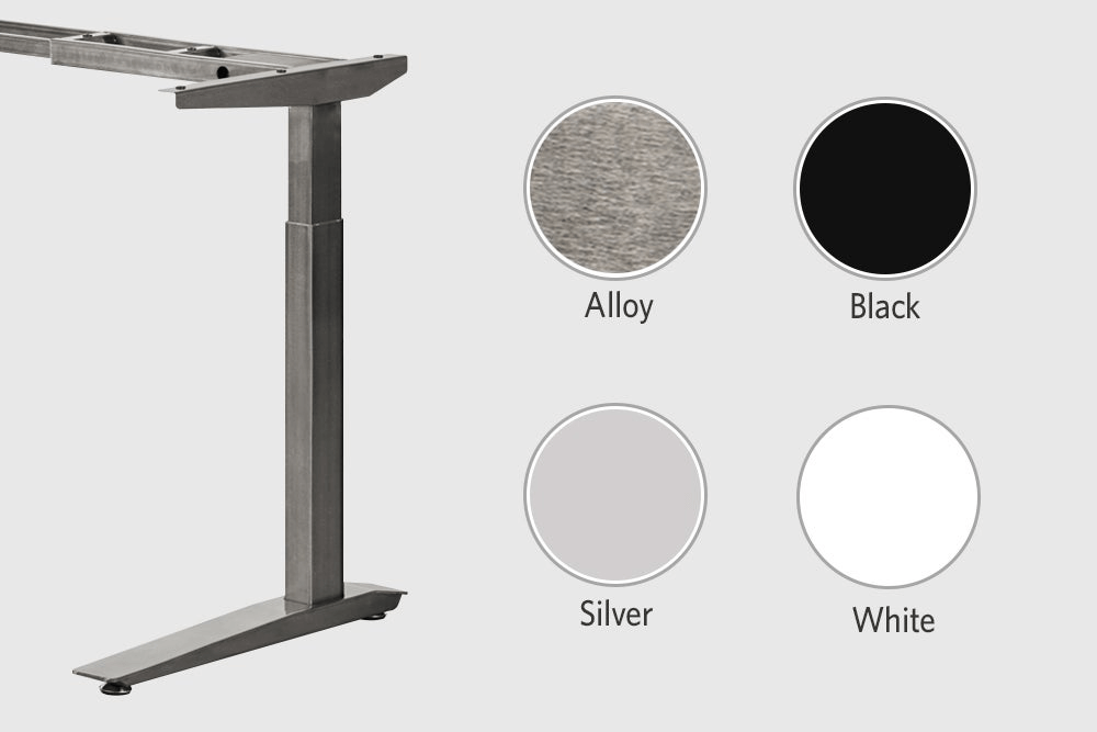 Four frame options for a Jarvis desk