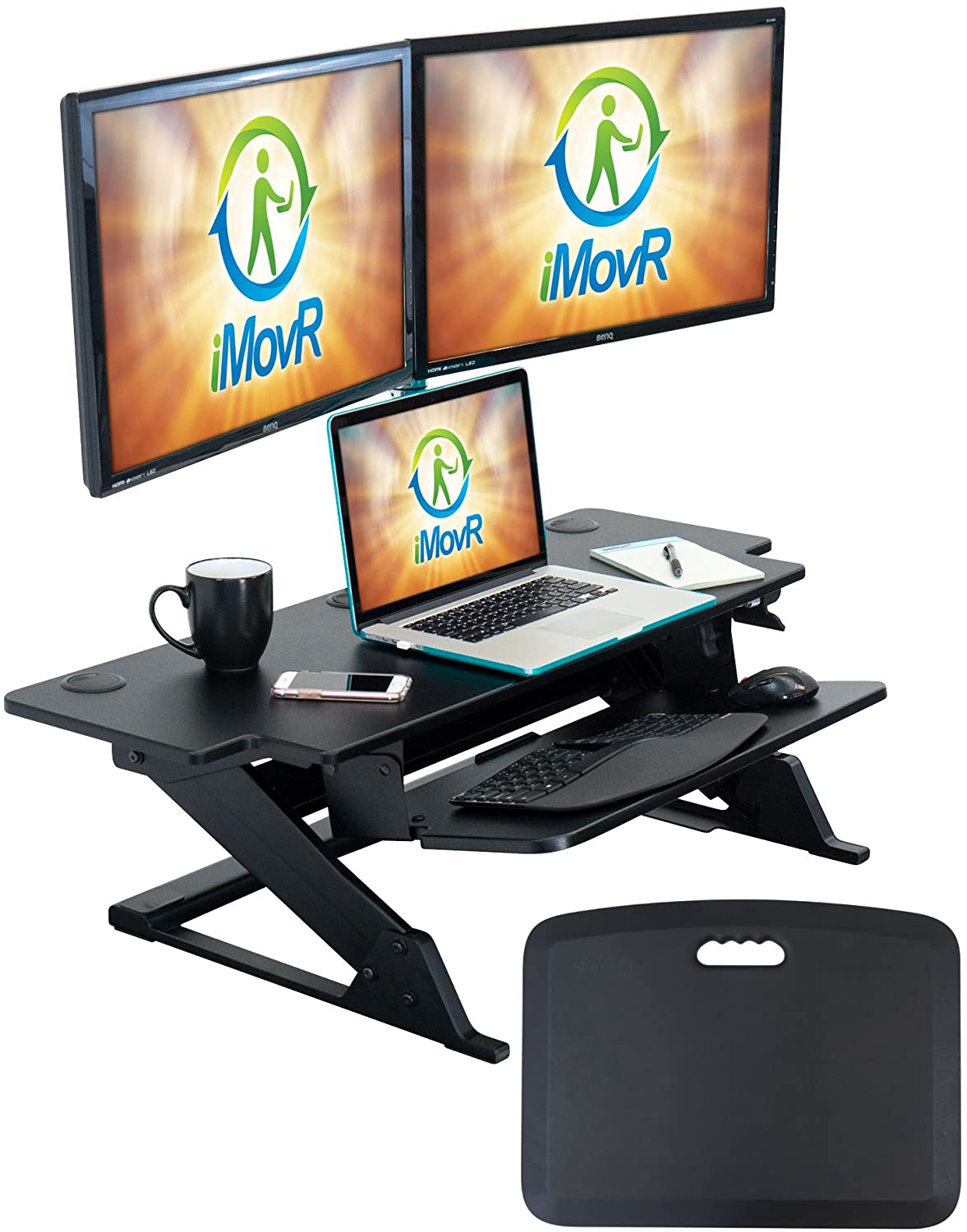 "iMovR Ziplift+ HD 42"" Standing Desk Converter"