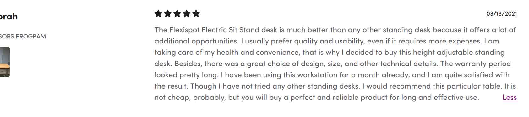 Flexispot Desk Review 3