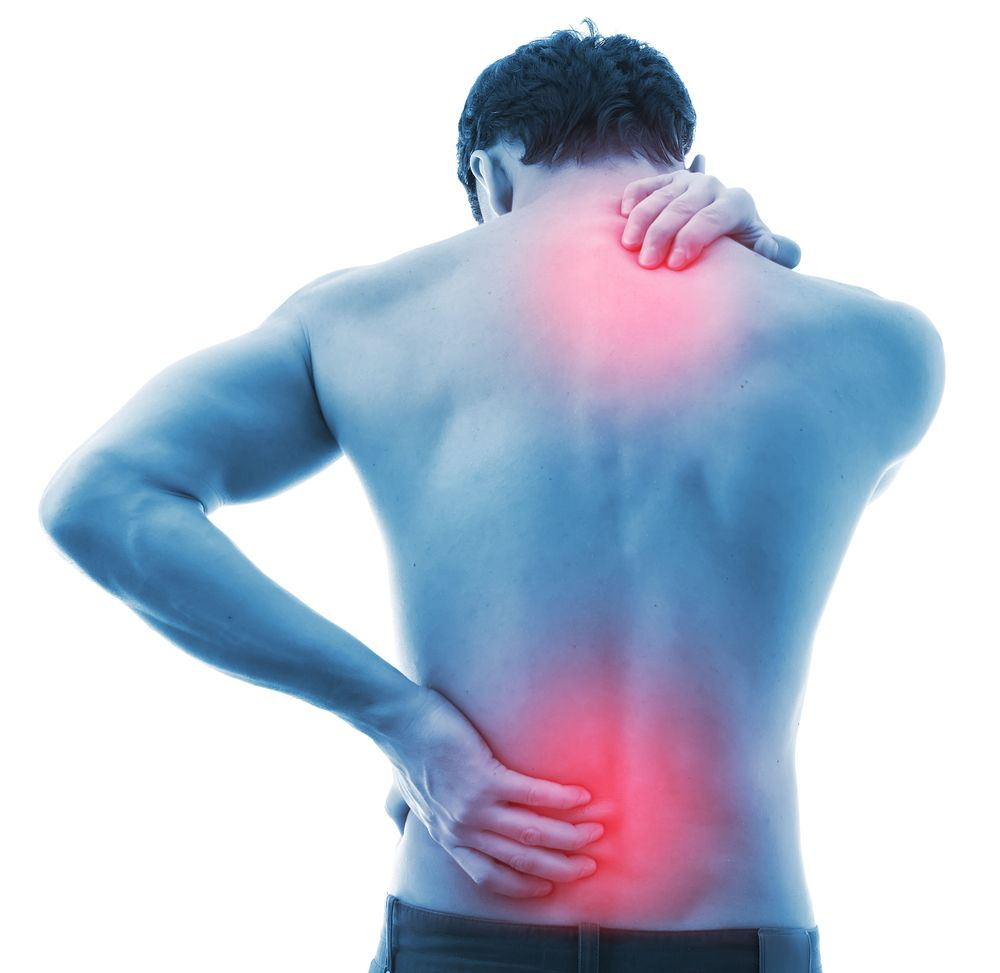 A man having back pain because of sitting