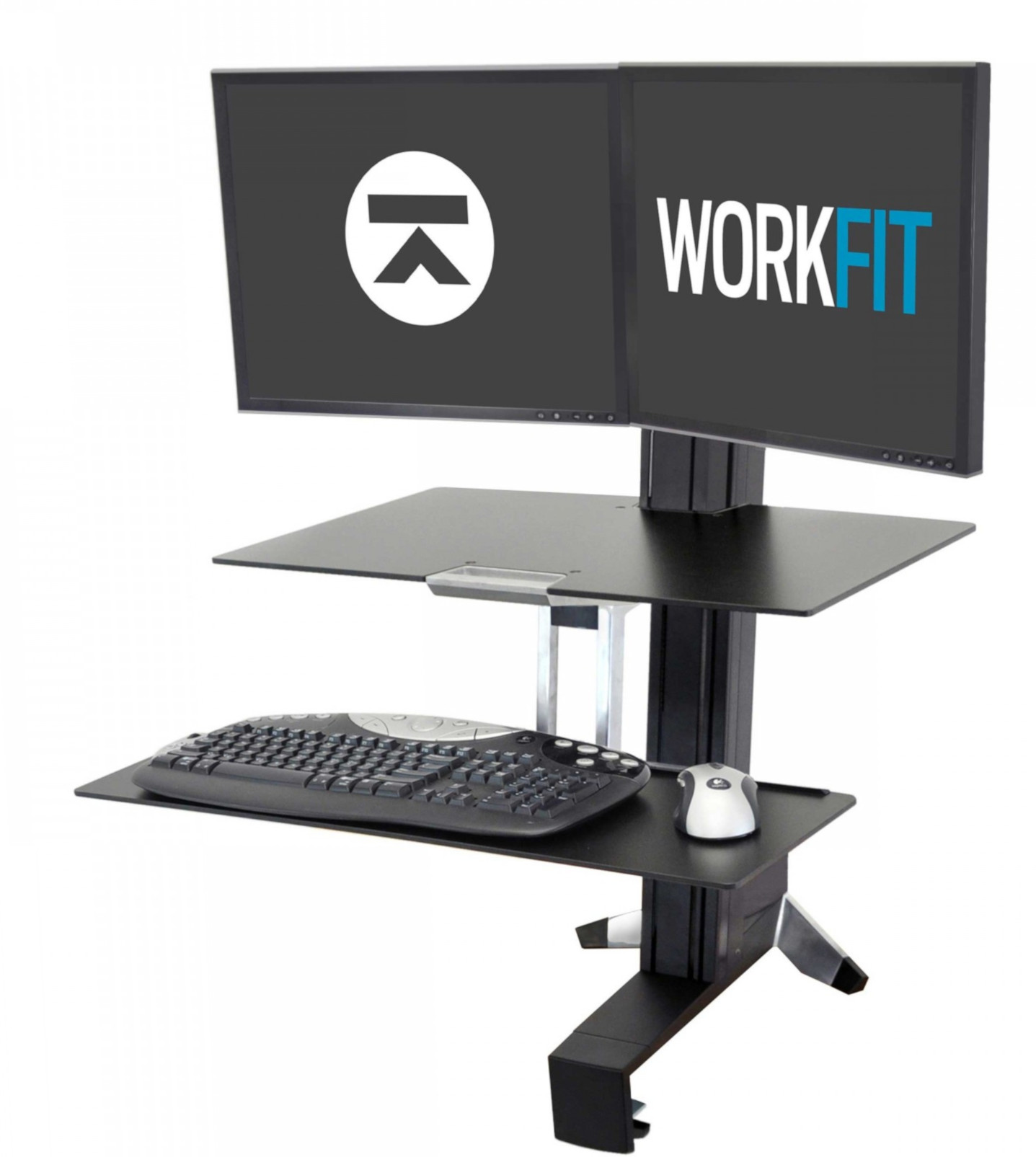 WorkFit-S Dual Sit-Stand Workstation with Worksurface