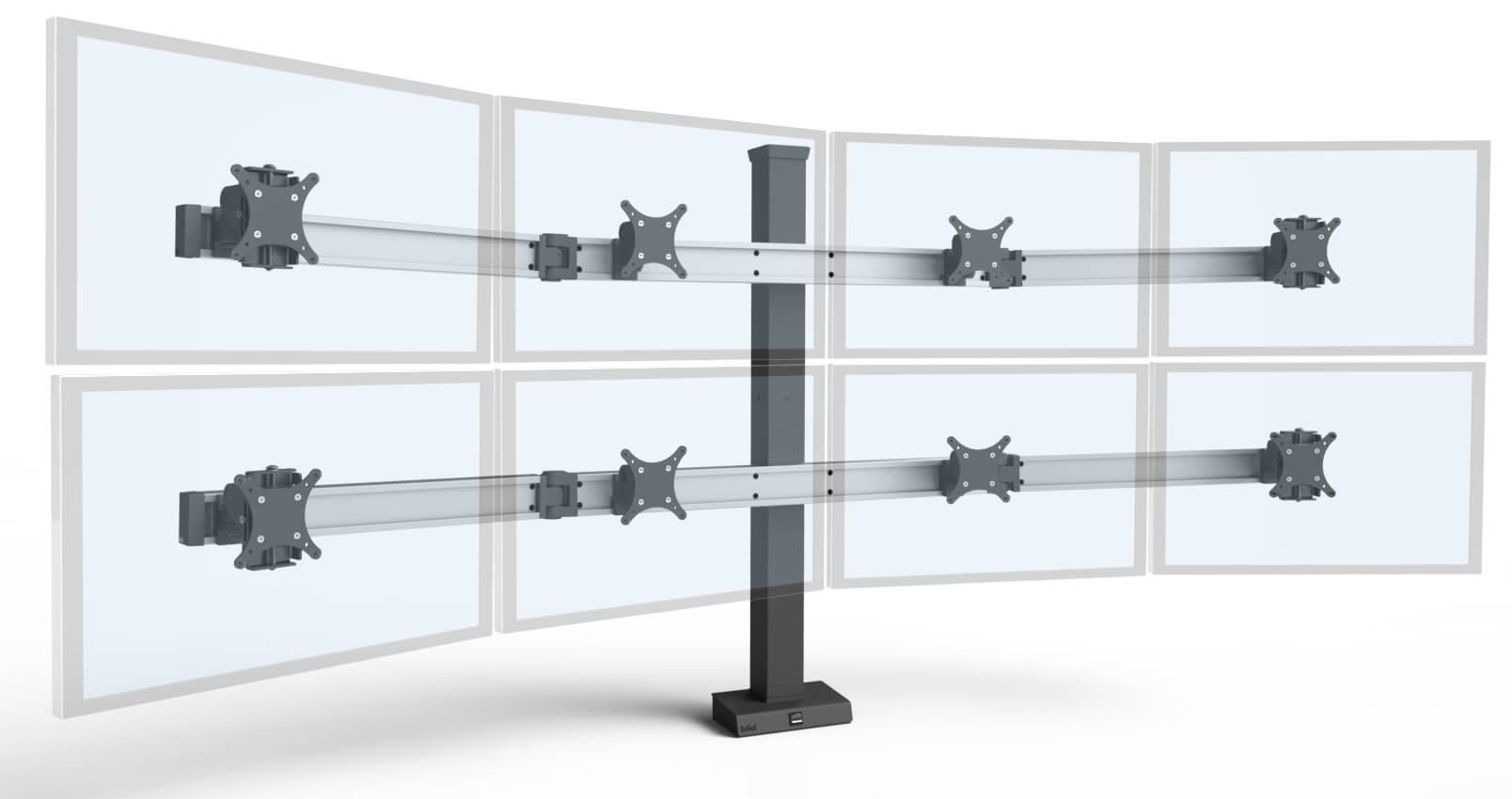 Bild-4-over-4 monitor mount system