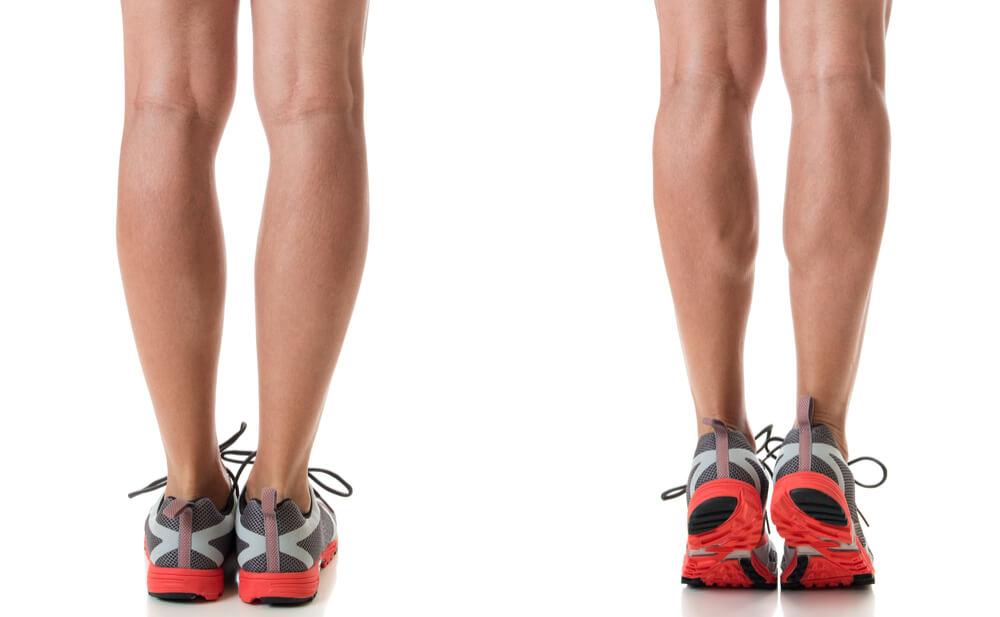 Woman doing calf-raise exercise