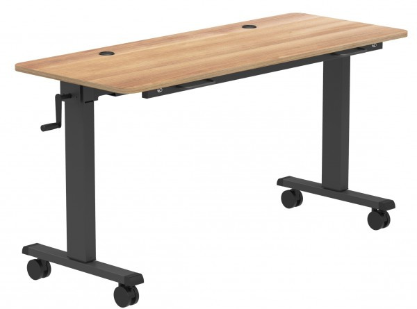 EBSCO Industries Adjustable Height Flip Top meeting Table