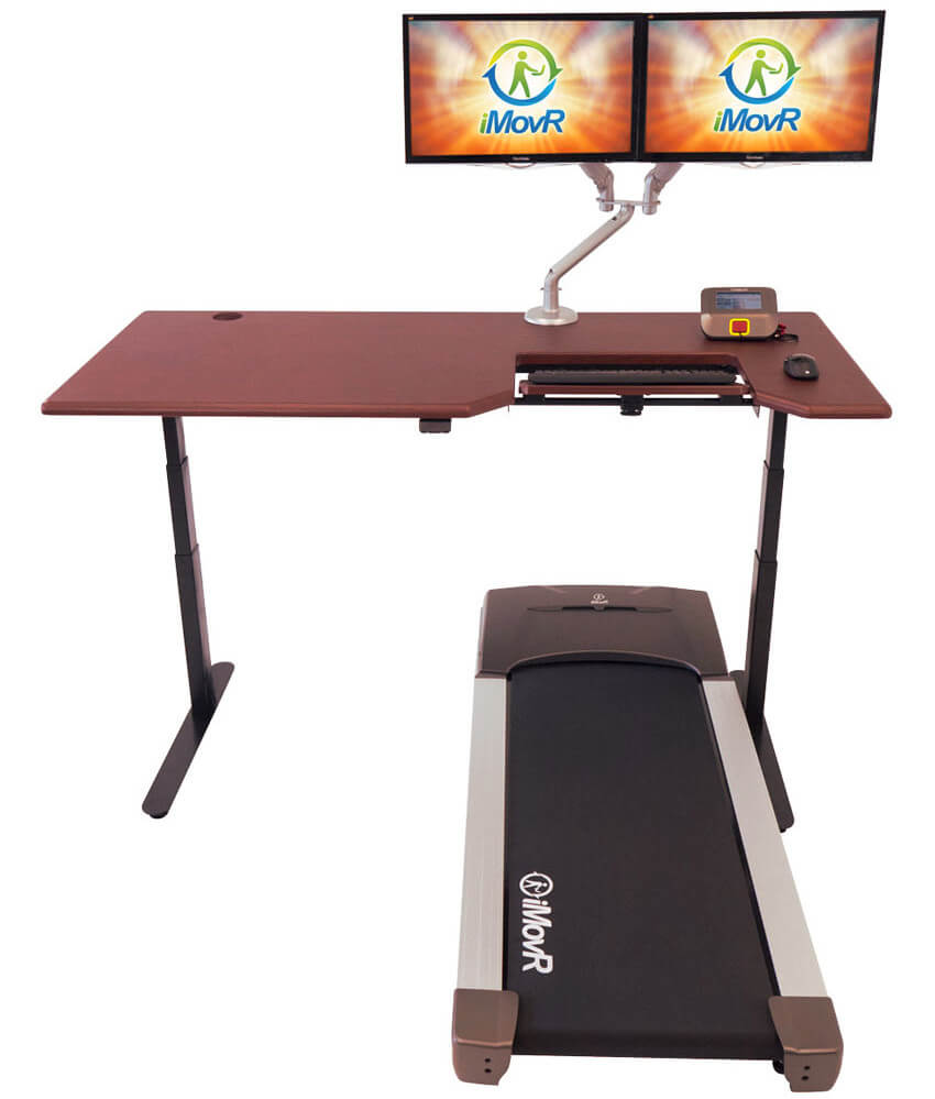 iMovR Lander treadmill desk workstation