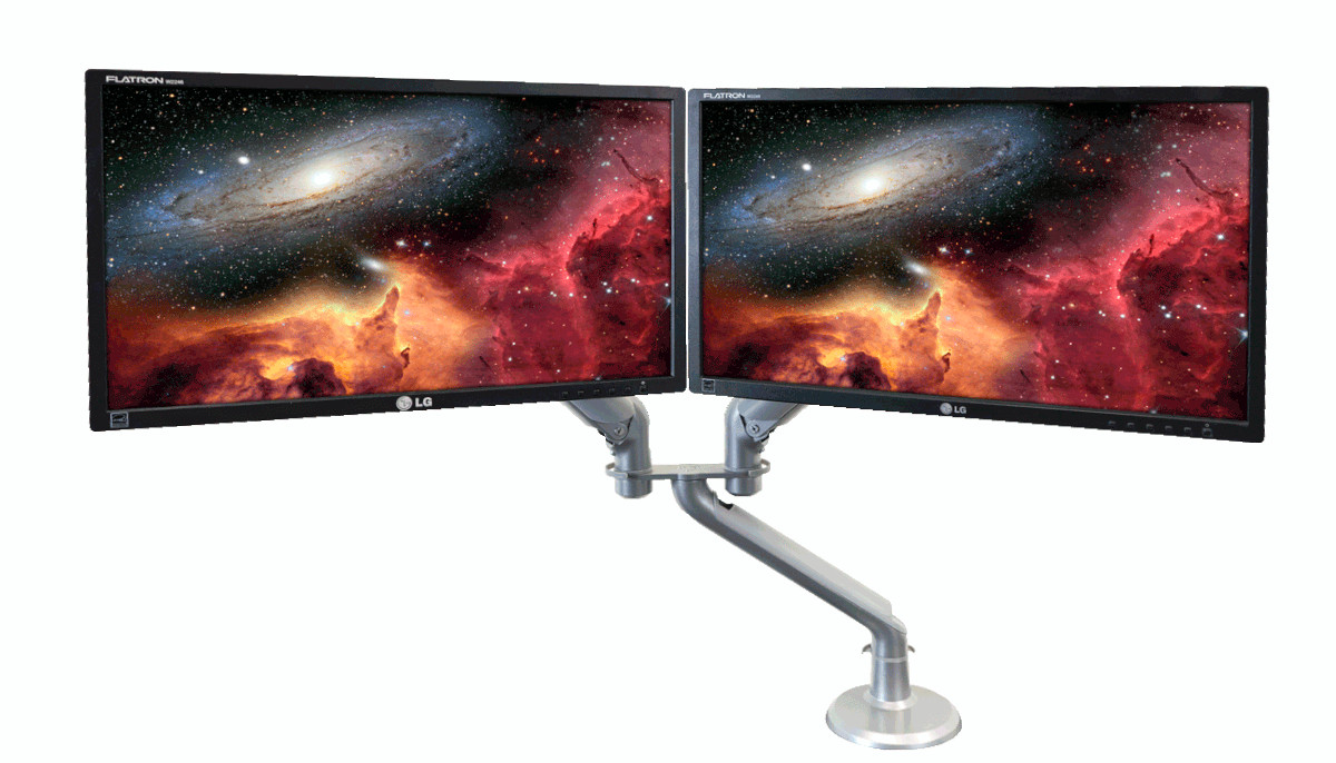 """iMovR Tempo Dual LCD """"Hubbed"""" Monitor Arm"""
