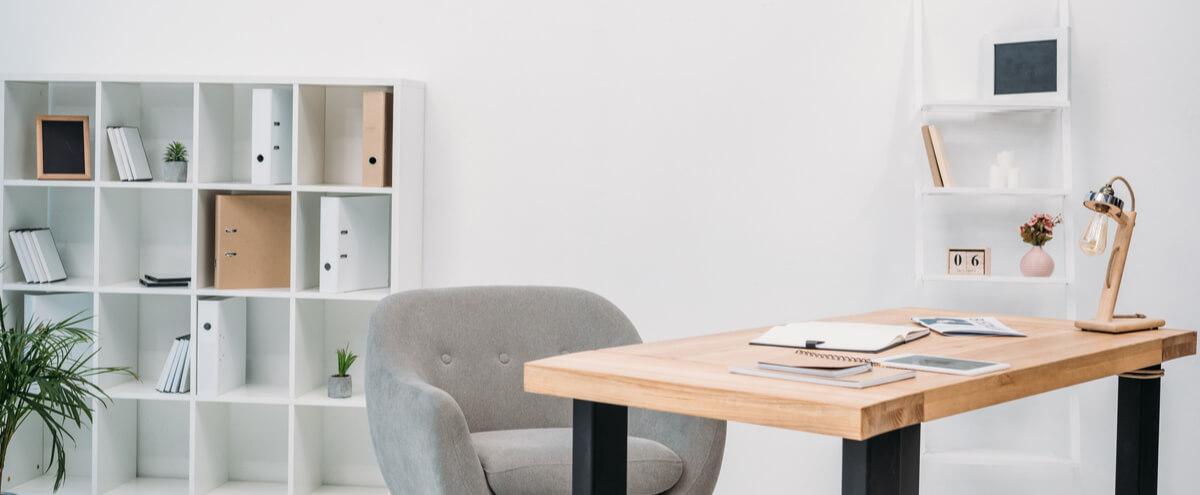 modern office interior with storage on background